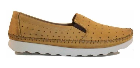 Mocasín Mujer Freeway Zapato Cuero Picado Goma Mcmo03654 Co