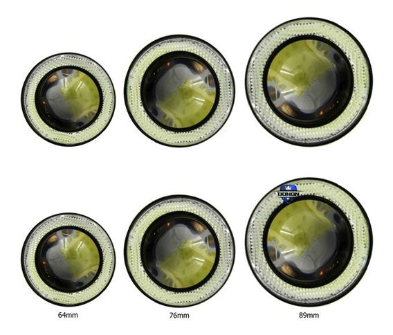Par Farol Milha Auxiliar Neblina Carro Angel Eye Led M609 - Escolha A Medida Correta
