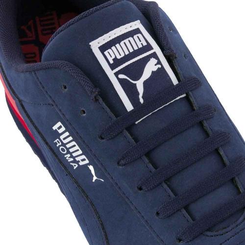 Secreto siguiente Sabor  Tenis Casual Puma Roma Retro Sports 185712 Azul Rojo Hombre | Mercado Libre