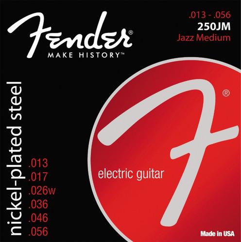 Imagen 1 de 1 de Encordado Guitarra Eléctrica Fender 250jm .013 - .056 Nps
