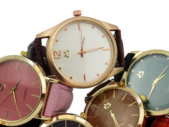 Relógio Feminino Dourado Orizom Maria