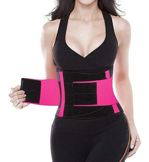 Faja Cintura De Avispa Gym Aerobics Velcro Reductora