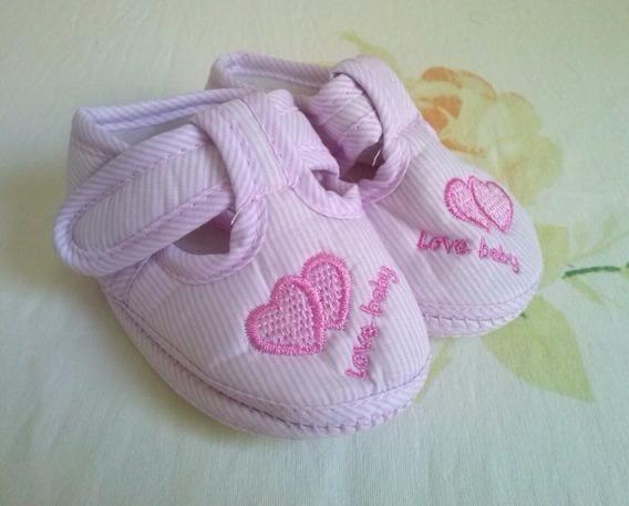 Sapatinho Love Baby De Bebê Tênis Para 3-6 Meses