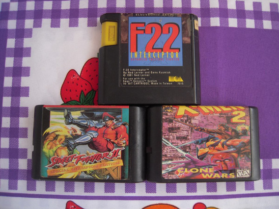 Street Fighter 2 Special Ced + F22 + X-men 2 Clone Wars