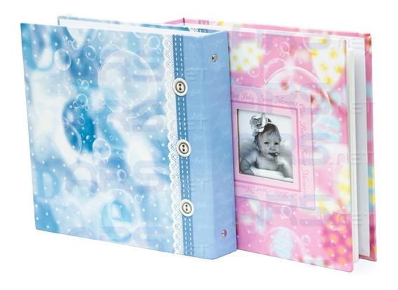 Álbum De Fotos Do Bebe 80 Fotos 10x15 Infantil Capa Dura