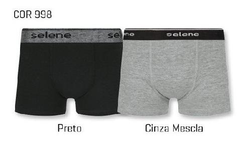 Kit C/ 2 Cueca Boxer Infantil Cotton - Selene