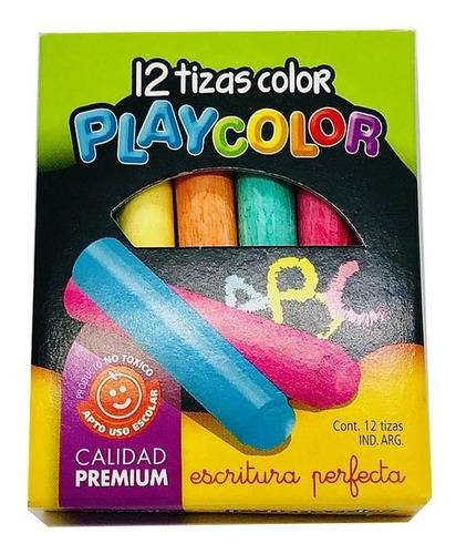 Tizas Playcolor De Color Caja De 12 Unidades