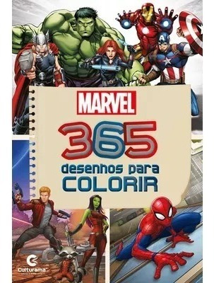 Livro 365 Desenhos Para Colorir Marvel Culturama