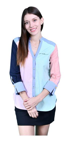 Camisa Porto Blanco Blusa Dama Blanca Colores D-970