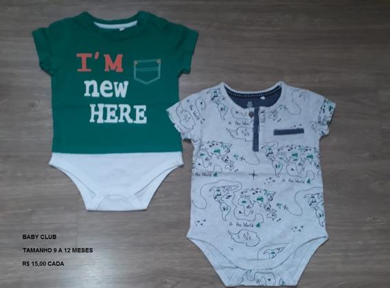 Lote Body/camiseta Bebê Menino 9-12 Meses