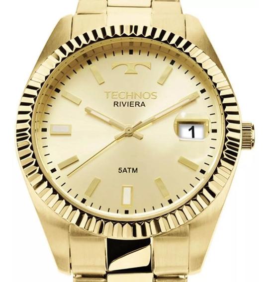 Relógio Technos Dourado Feminino Classic Riviera 2415ch/4x Original C/ Nf-e