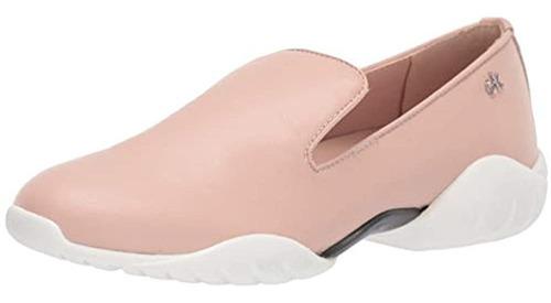 Calvin Klein Zapatillas De Ballet Para Mujer Lee, Cuero Liso