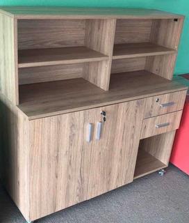 Mueble Organizador Con Puertas Y Cajones Con Llave