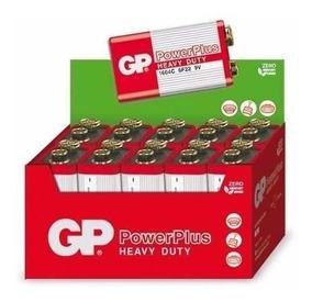 Bateria 9v Caixa Com 50 Unidades Gp Power Plus