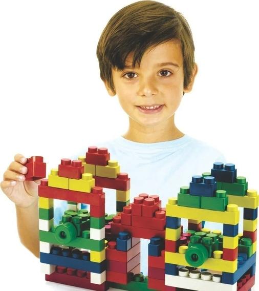Super Blocks 140 Peças - Blocos De Montar Riber Brink 2400