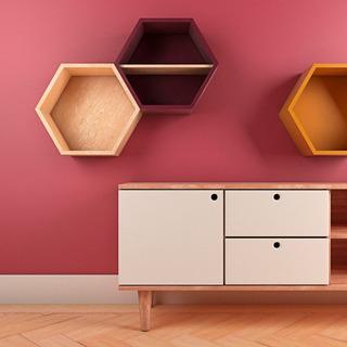 Repisa Hexagonal 30 Cm Varios Colores A Meses Sin Intereses