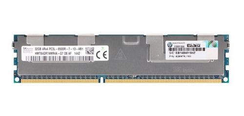 Memoria  Ram Servidores 32 Gb Ddr3 4rx4 Pc3l-8500r Ecc Reg