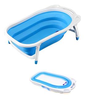 Bañera O Tina De Baño Plegable Portátil Para Bebe Azul