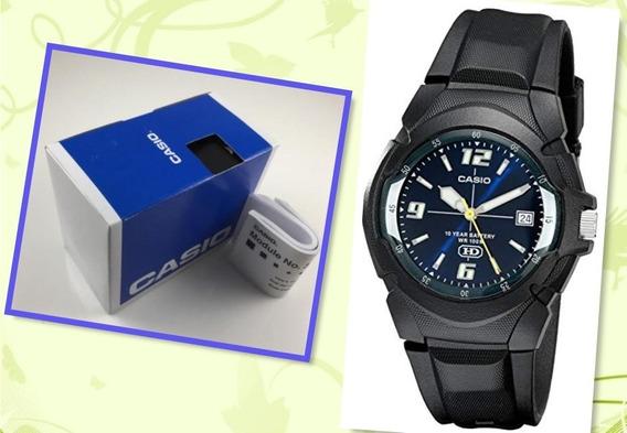 Relógio Casio Pulseira Resina Analógico Mw600f Bateria 10ano