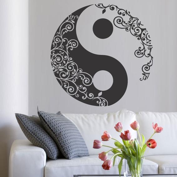 Adesivo Parede Decorativo Mandala Yin Yang 80x80 Cm