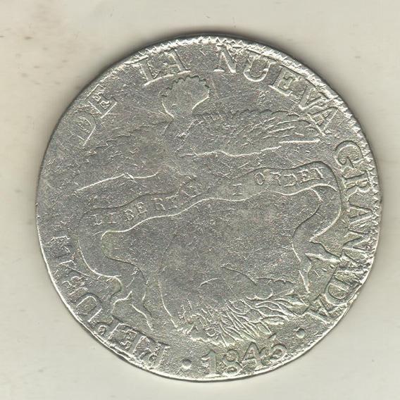 Colombia Nueva Granada 8 Reales De Plata Año 1845 Km 98