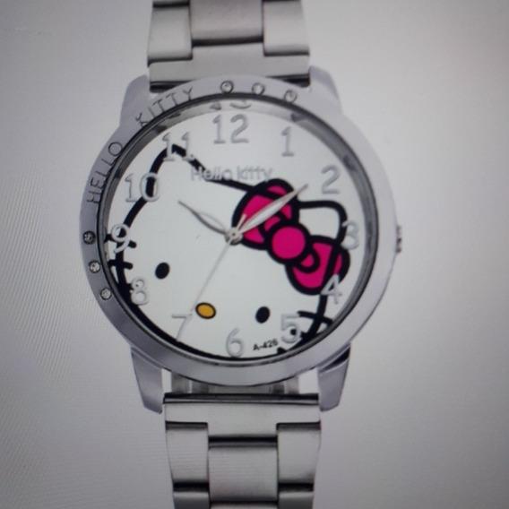 Kit Relógio Feminino Hello Kitty E Pulseira Magnética: