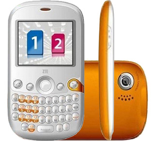 Celular Zte X630d 2g 0.3mp Mp3 Fm Dual Branco/laranja Novo