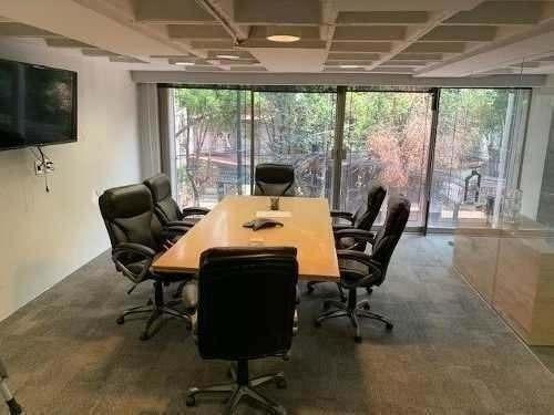 Oficina Renta Polanco 170m2, Divisiones En Cristal,privados,