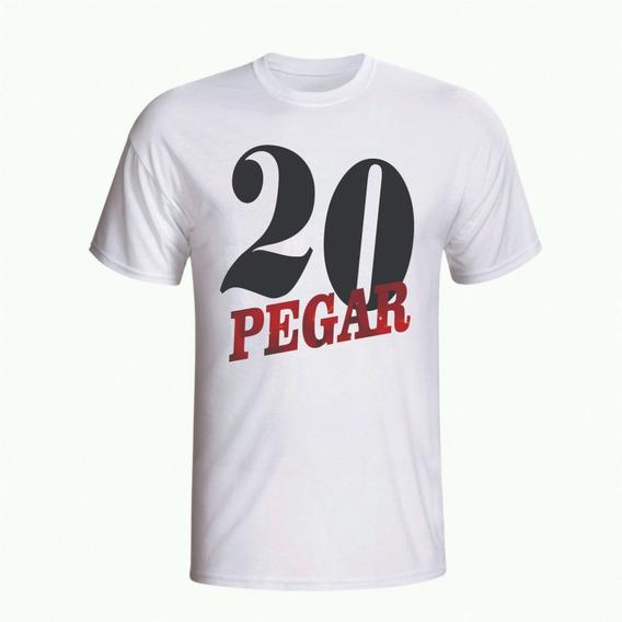 Camiseta 20 Pegar - Camisas Engraçadas