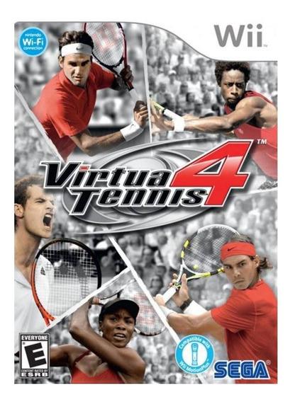 Jogo Lacrado Midia Fisica Virtua Tennis 4 Para Nintendo Wii