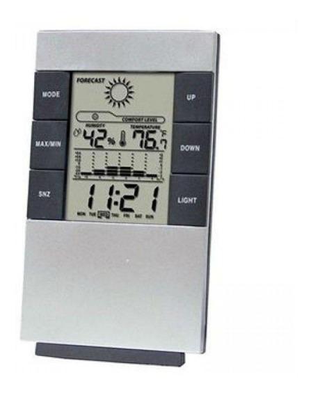 Relógio De Mesa Digital Despertador E Previsão Do Tempo 3210