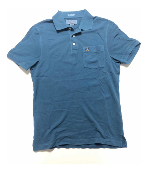 Polo Azul Penguin Heritage Slim Fit