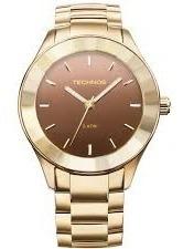 Relógio Technos Feminino Dourado / Marrom - 32409