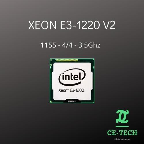 Processador Xeon E3 1220 V2 - (4/4) 3.5ghz - Com Garantia