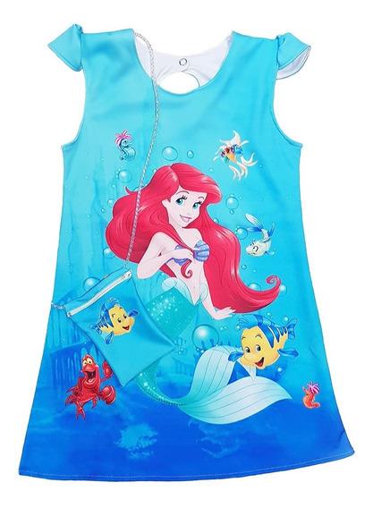 Vestido Ariel La Sirenita Para Nenas