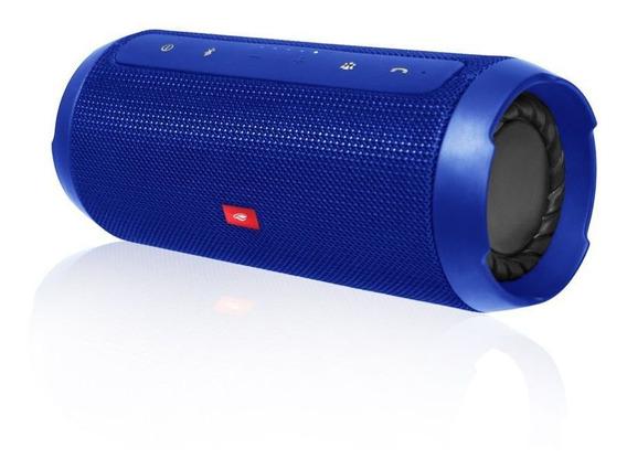 Caixa De Som Bluetooth Speaker 15w Rms Tipo Jbl C3tech Blue