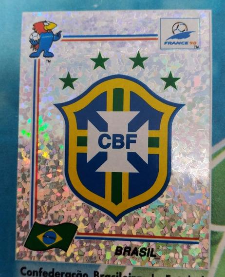 Logo Copa França E Escudo Brasil 98