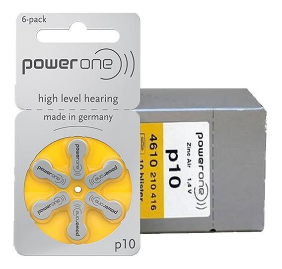 6 Pilhas Baterias P10 Pr70 Aparelho Auditivo - Power One