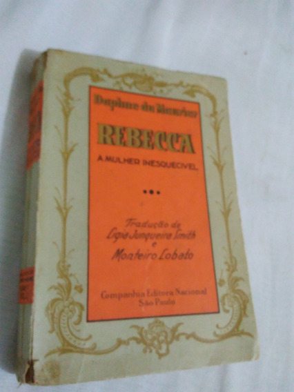 Livro Rebecca A Mulher Inesquecivel Edição1940-no Estado