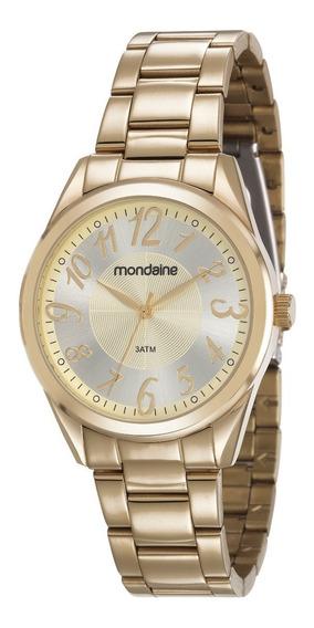 Relógio Mondaine Feminino Dourado Analógico 83388lpmvde1
