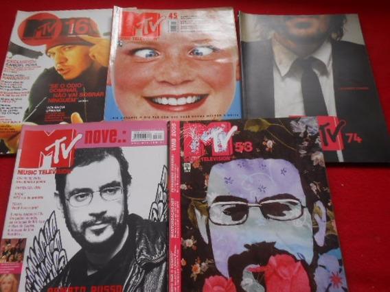 Mtv Lote Com 5 Revistas Renato Russo Etc Nrs. 9/16/45/53/74