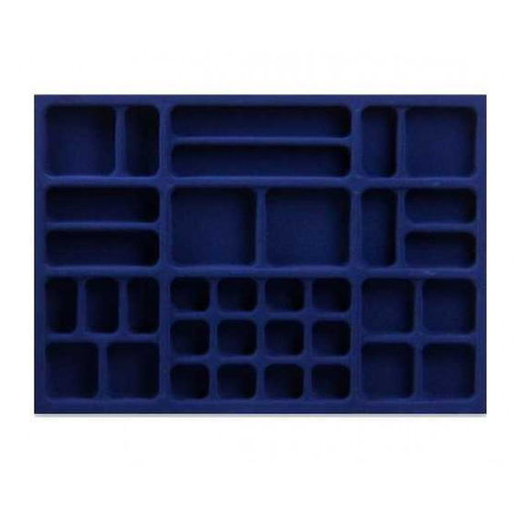 Porta Jóia Plástico Azul Aveludado 600x420 [ Pj-32 ]- Mold