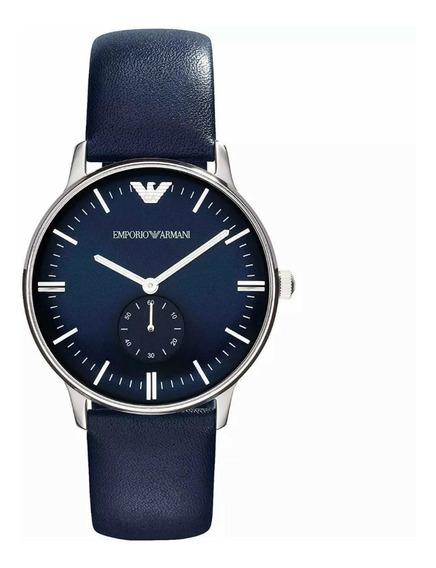 Relógio Emporio Armani Clássico Ar1647 Blue Original