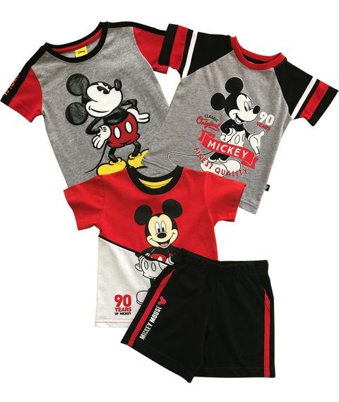 Conjunto Y Playeras Mickey Mouse De Disney Para Bebo 3-pack