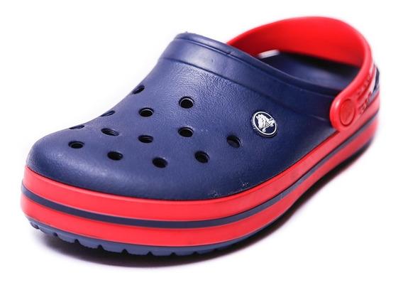 Zueco Crocs Crocband Azul Y Rojo