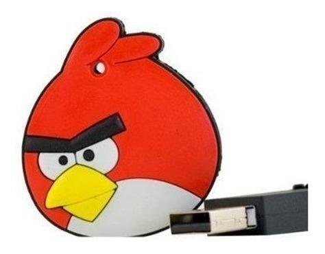 Pendrive Chaveiro Angry Birds Emborrachado 4gb Leia Anuncio