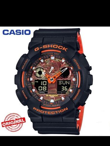 Relógio Original Casio G-shok Ga100 De Quartzo Vermelho.