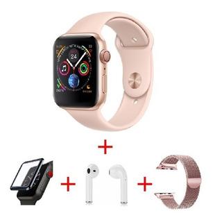 Relógio Smart Iwo 8 Watch Brinde Pulseira Fone E Película