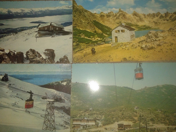 Postales (4) Cerro Catedral Boleto Aero Silla,colectivo