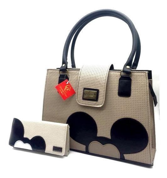 Bolsa Feminina Mickey Kit Com Carteira Gouveia Costa